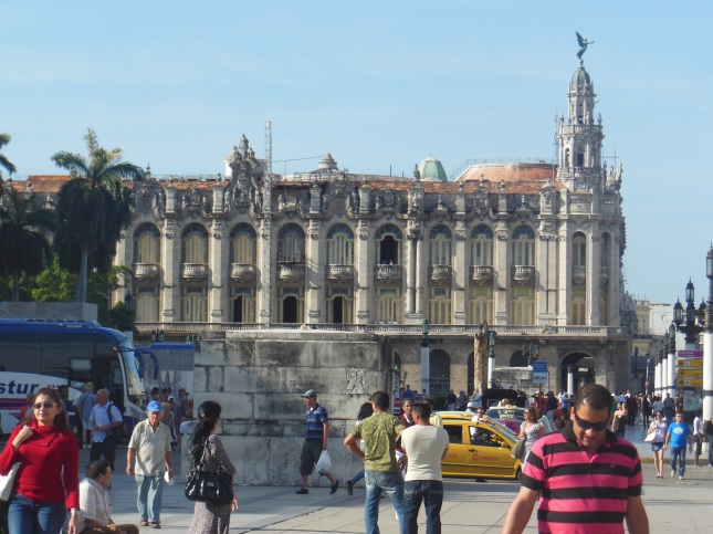 Animated tourist area in Havana