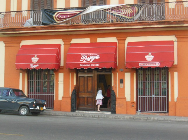 Casa del Habano in the historic Partagas real Fabrica de tabaco.